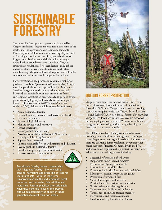 Professional Loggers And Sustainable Resources